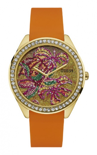 Заказать наручные часы GUESS W0960L2 на безеле инкрустирован кристаллами с гарантией 2 года