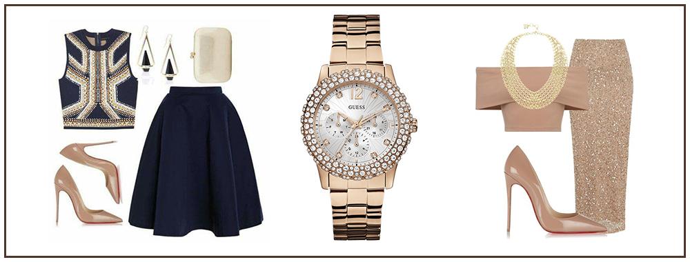 Гламурный стиль и наручные часы
