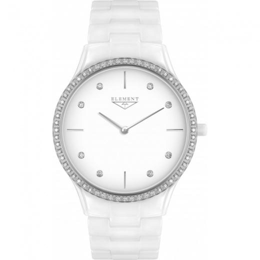 5afa1c35 Женские часы 33 Element 331702С классические, белые с камнями и гарантией  33 месяца