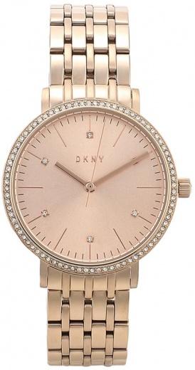 9115f318 Женские часы DKNY NY2608 fashion, золото с камнями и гарантией 12 месяцев