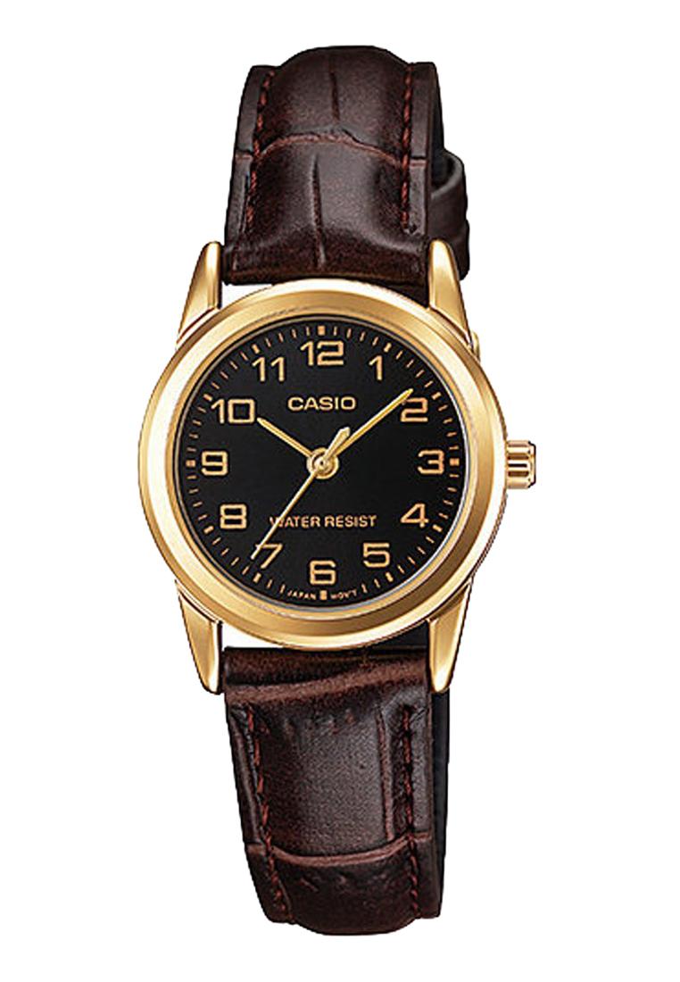 6ddbfa36 Женские часы CASIO LTP-V001GL-1BUDF классические, черные и гарантией 12  месяцев