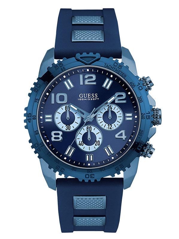 Мужские часы GUESS W0599G4 классические, круглые, синий и гарантией 24  месяца 47c92ea24ba