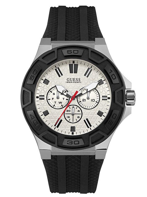 Мужские часы GUESS W0674G3 спортивные, круглые, белые и гарантией 24 месяца 74d46d80468