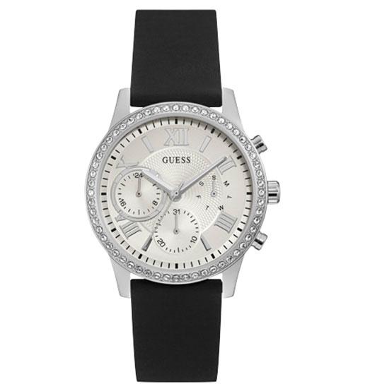 33d9ea71 Женские часы GUESS W1135L5 спортивные, круглые, металлик с камнями и  гарантией 24 месяца
