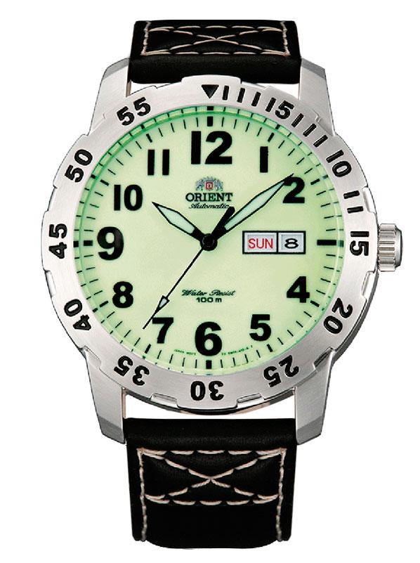 fadd10b4 Мужские часы Orient FEM7A008R9 классические, зеленые и гарантией 12 месяцев